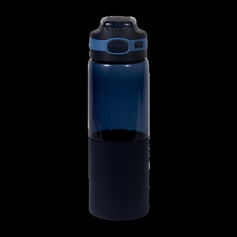 Botella de agua con boquilla azul marino