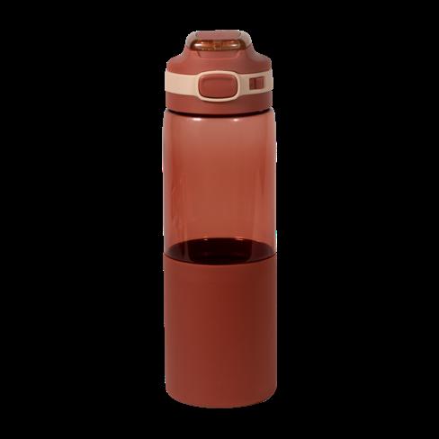 Botella de agua con boquilla roja
