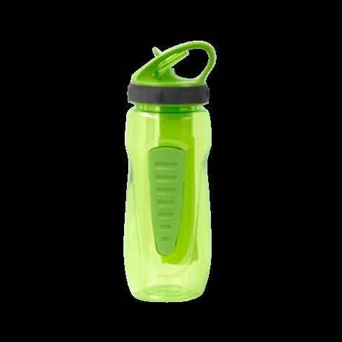 Botella transparente verdosa