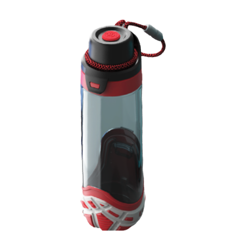 Botella de agua con dibujo trazado