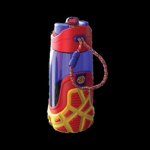 Botella para niños morada/roja