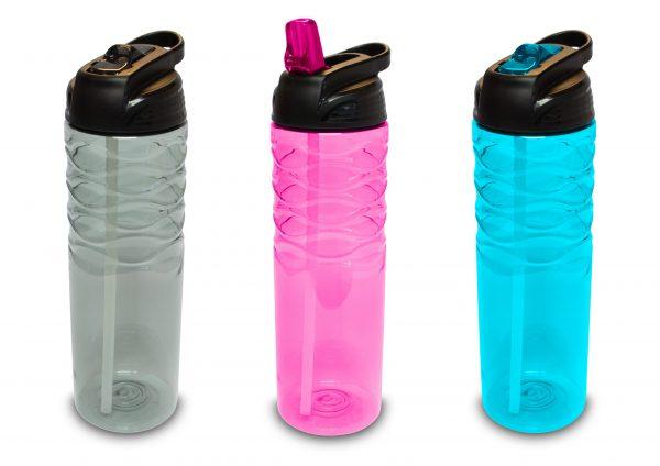 Botella de Agua con Pajita